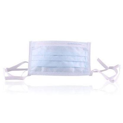 Picture of Pleated Surgical Mask with Ties, Blue