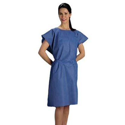 "Picture of Nonwoven Exam Gown, Blue, 30"" x 42"""